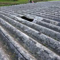 Asbestos cement roof sheets
