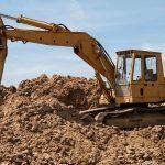 Digger performing excavation