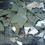 Asbestos roofing tiles
