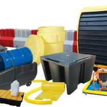 Collection of spill containment products