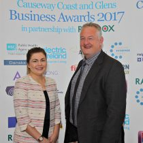 Mark and Claire at the Causeway Chamber Awards launch ceremony