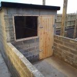 Dog kennel re-built and contamination free