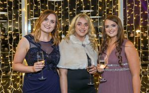 Lauren McAuley, Carolyn Scott and Lauren McKinney pictured at the BEFTAs at the Belfast Waterfront.