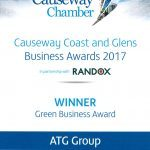 Causeway Coast and Glens Business Awards 2017: Green Business Award