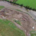 Aerial photo of the site condition at the start of the project