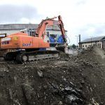 Panorama view of the site during Eraginate® process.