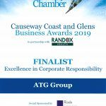 Causeway Coast and Glens Business Awards 2019: Finalist in Excellence in Corporate Social Responsibility