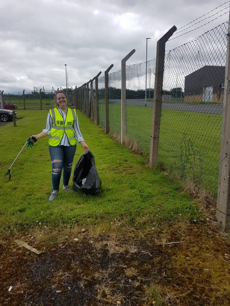 A member of our Coleraine team out on our adopted stretch of road picking litter