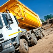 Lorry taking soil to landfill that could be treated